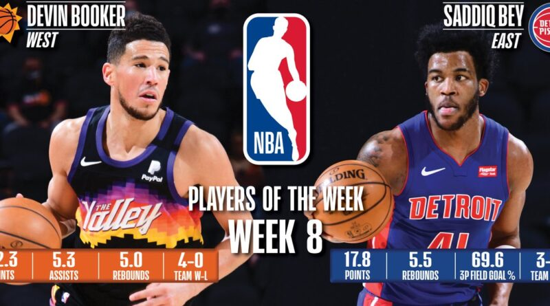 Devin Booker (Suns) y Saddiq Bey (Pistons) - Octava semana 2020/21