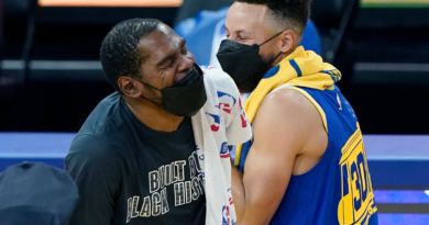Kevin Durant (Nets) y Stephen Curry (Warriors)