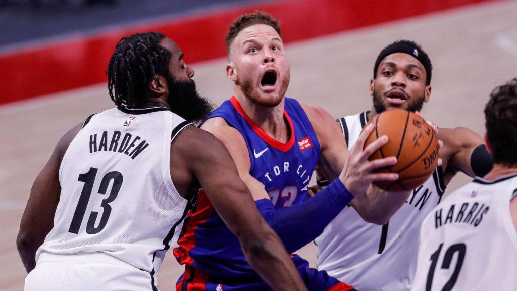 Blake Griffin (Detroit Pistons) vs Brooklyn Nets