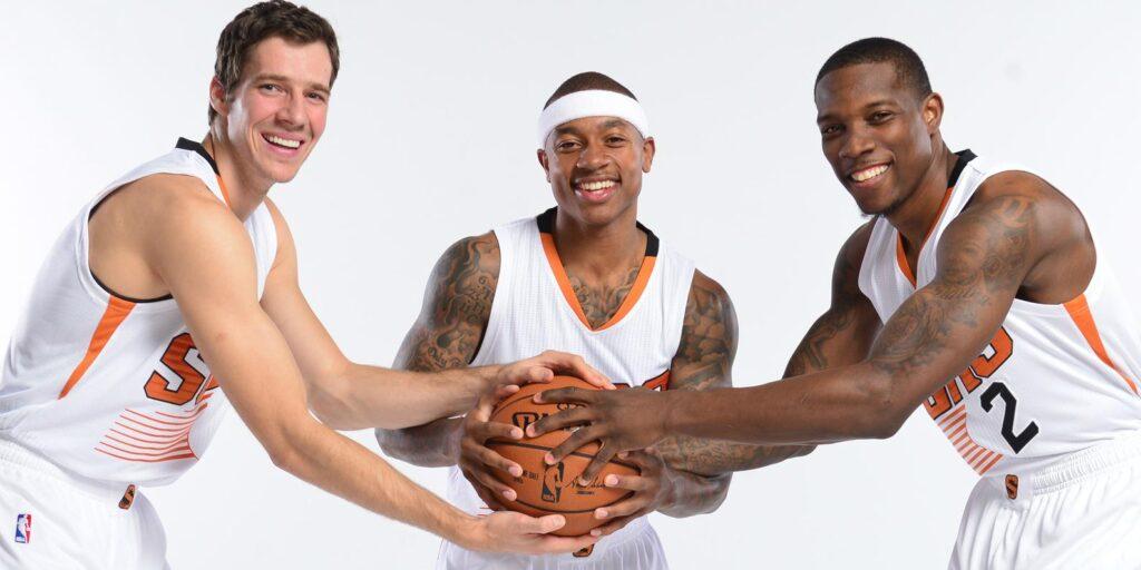 Goran Dragic, Isaiah Thomas y Eric Bledsoe, el trío que no fue / Foto vía NBA