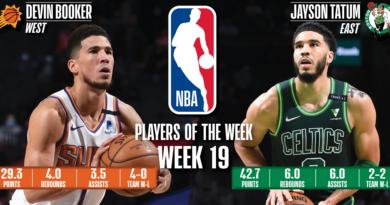 Devin Booker (Suns) y Jayson Tatum (Celtics) - Decimonovena semana 2020/21