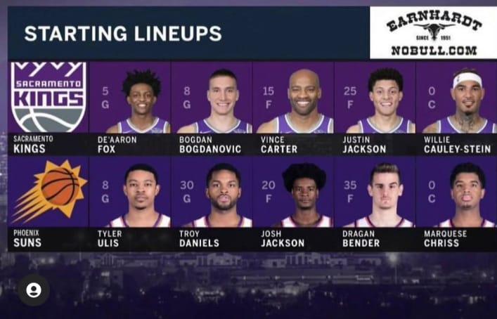 Quinteto titular que tuvo Phoenix Suns en la temporada 2017/18